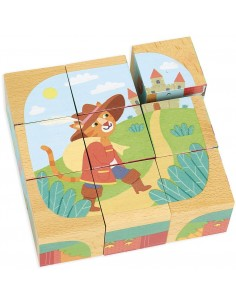 Cubes en bois les contes -...