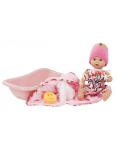 Poupée baigneur aquini avec baignoire 33 cm