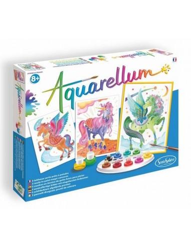 Aquarellum licornes et pégases -...