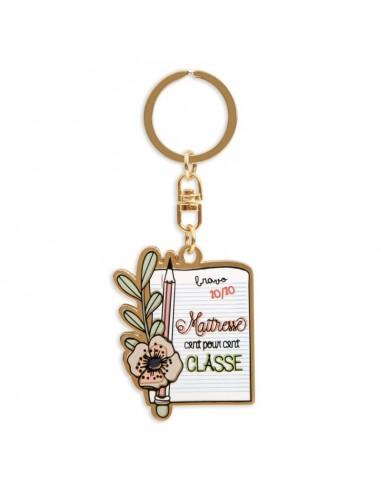 Porte clés maitresse 100% classe -...