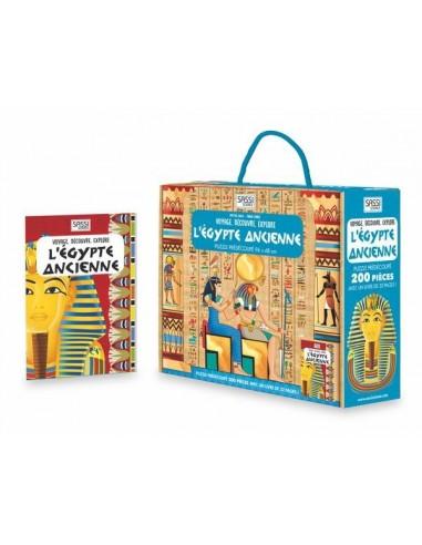 Coffret livre et puzzle Egypte...