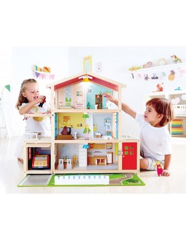 Grande maison de poupée meublée - Hape