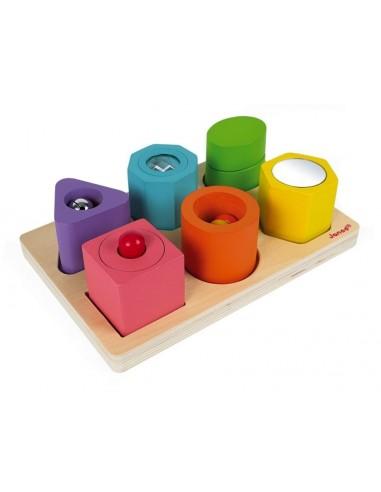Puzzle 6 cubes sensoriels - Janod