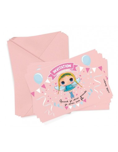 6 cartons d'invitation fée - Quand je...