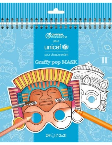 Coloriage masques UNICEF - Avenue...