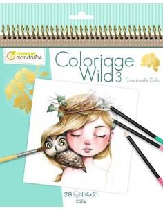 Carnet de coloriage Wild 3...