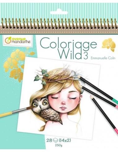 Carnet de coloriage Wild 3 - Avenue...