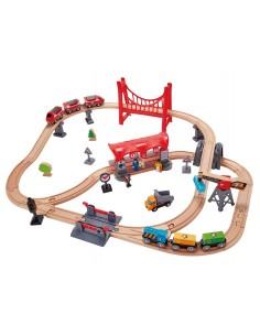 Circuit de train ville animée