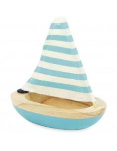 Petit voilier de bain bleu...