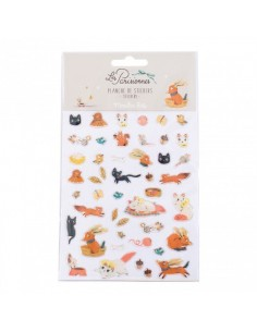 46 stickers animaux les...