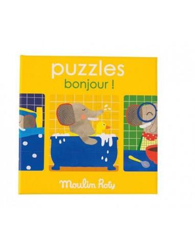 3 Puzzles bonjour Les Popipop -...