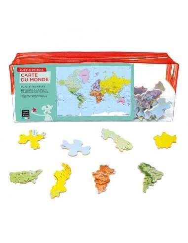 Puzzle 50 pièces carte du monde - PMW
