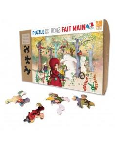 Puzzle 24 pièces rencontre en forêt