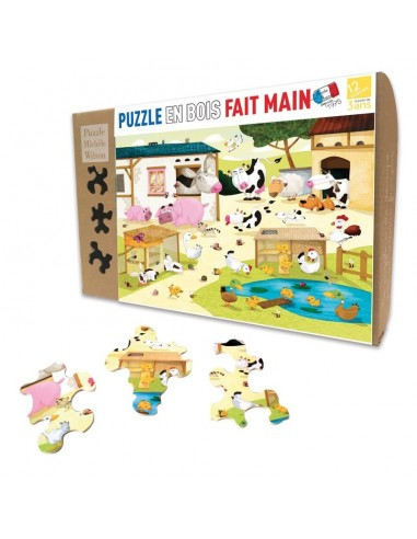 Puzzle 12 pièces la ferme - PMW