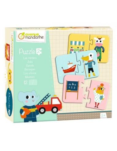Puzzles 2 pièces les métiers - Avenue...