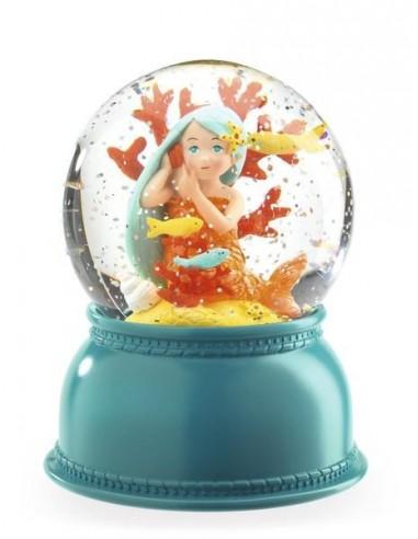 Veilleuse boule à neige sirène - Djeco