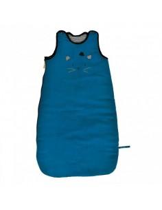 Sac de couchage bleu 70 cm Les moustaches