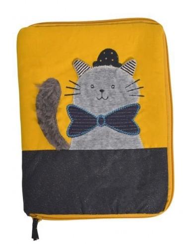 Protège carnet de santé chat gris Les...