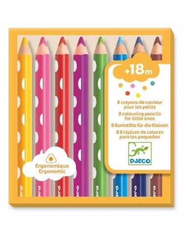 8 crayons de couleur pour les petits...