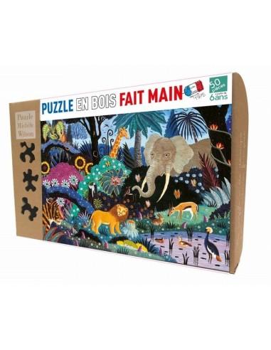 Puzzle 50 pièces nuit dans la jungle...