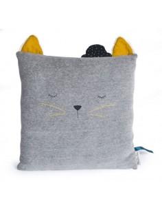 Coussin chat gris clair Les...