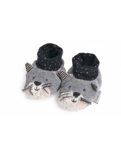 Chaussons chat gris Fernand...