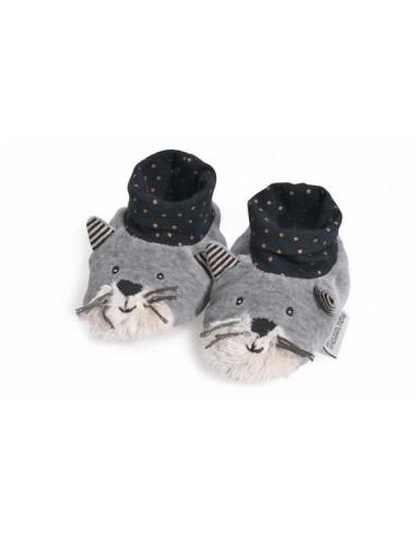 Chaussons chat gris Fernand Les...