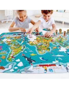 Puzzle et jeu tour du monde...