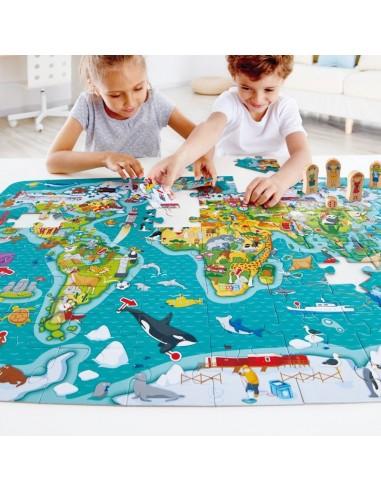 Puzzle et jeu tour du monde - Hape