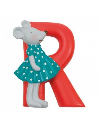 R lettre alphabet en résine - Moulin...