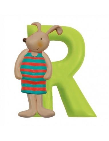 R lettre lapin alphabet en résine -...