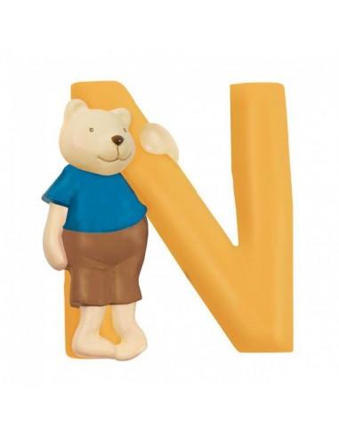 N lettre ours alphabet en résine -...