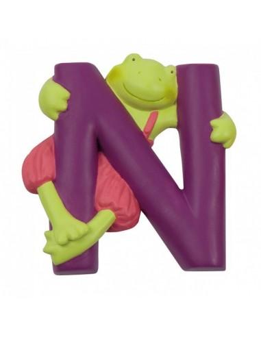 N lettre alphabet en résine - Moulin...