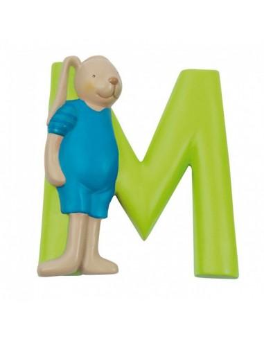 M lettre alphabet en résine - Moulin...