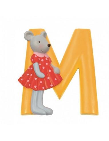 M lettre souris alphabet en résine -...