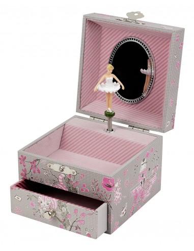 Boîte à bijoux musicale cube Alice -...