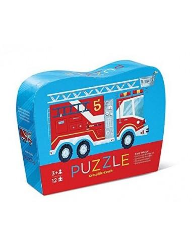 Mini puzzle camion de pompier 12 pièces