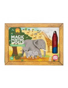 Coloriage magique safari