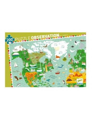 Puzzle d'observation Tour du monde...