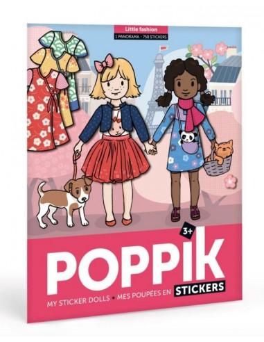 Gommettes girl fashion - Poppik