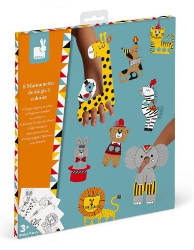 Marionnettes de doigts à colorier -...