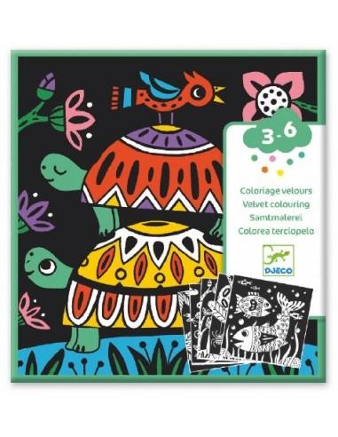 Coloriage Velours Bestioles Loisirs Creatifs Djeco Lapouleapois Fr