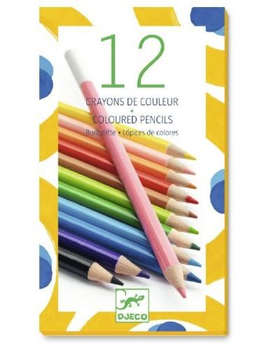 12 crayons de couleur - Djeco