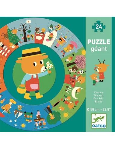 Puzzle géant l'année - Djeco