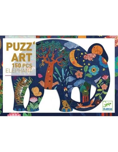 Elephant Puzz'art 150 pièces - Djeco