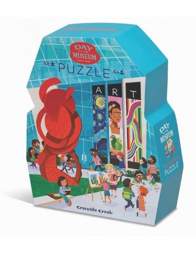Puzzle visite du musée d'art 48 pièces