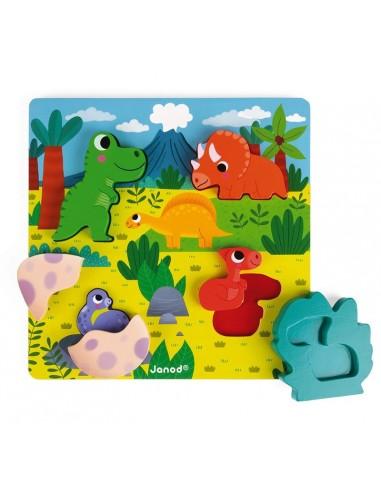 Puzzle cache cache dino - Janod
