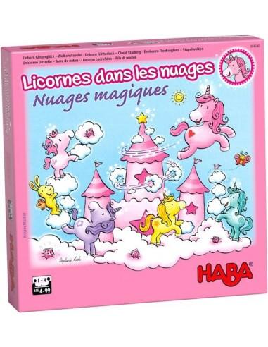 Jeu nuages magiques Licornes dans les...