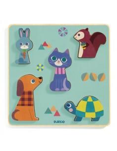 Puzzle bois Moustacha - Djeco