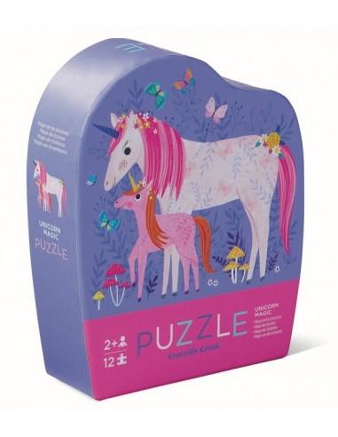 Mini puzzle licorne 12 pièces